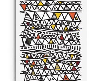 Digital Print - African Triangle Inspired Pattern - Art Print - Wall Decor - Giclee Print