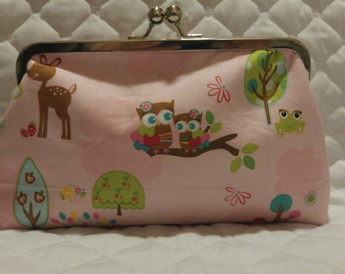Pink Woodland Creatures Clutch