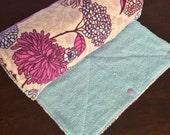 UnPaper Towels Flannel Flowers Purple  Blue Beige Pink Set of 10