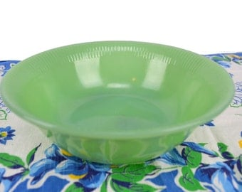Vintage Fire King Jadeite Vegetable Serving Bowl Jane Ray Pattern Replacement Piece