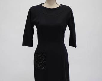 Abella Paris Black Wool Dress