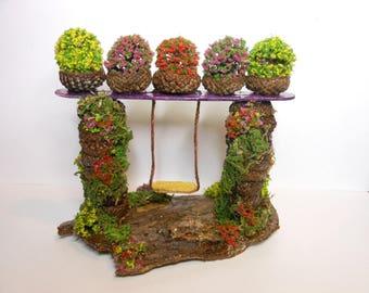 Fairy Swing-OOAK-Fairy Garden Swing