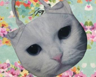 cat bag, shoulder bag, pet bag, pet lover bag, animal bag, kitten bag, C612