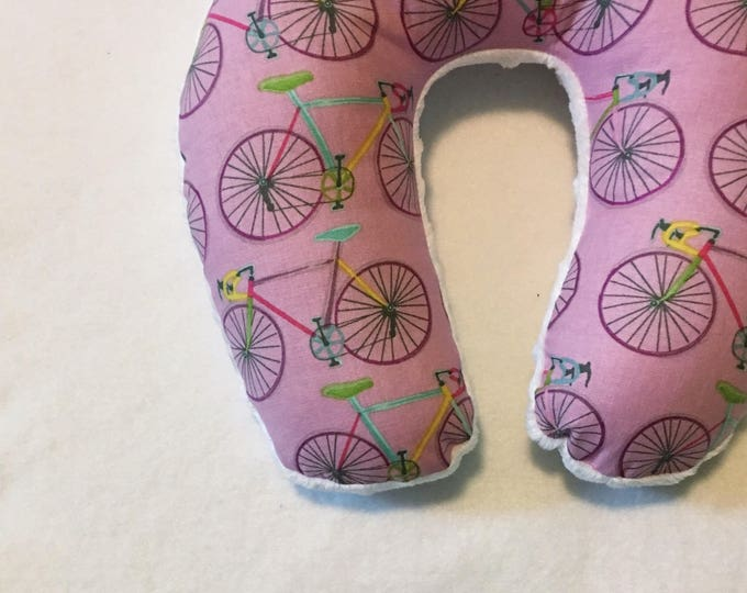Lavender Bikes Travel Neck Pillow for Children and Adults