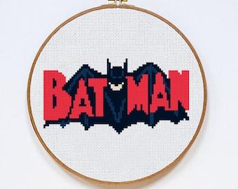 Batman cross stitch pattern, Instant Download, Free shipping, PDF