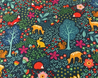 Pieceful Gathering - Forest Animals Fabric