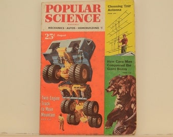 POPULAR SCIENCE Magazine, August 1953 - Great Condition, Tips,  Science, Technology, Vintage Ads, Camel Cigarette Ads