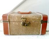 Vintage Train Case Tweed