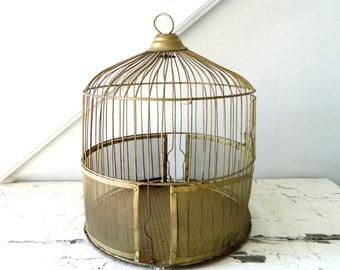 Vintage Bird Cage Metal Brass