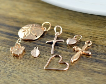 Rose Gold Charms, Add On Charm, Charms, Add On, Necklace Charm