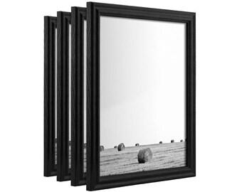 "Craig Frames, 24x30 Inch Black Picture Frame Set, Wiltshire 200, .75"" Wide, Set of Four (200ASHBK2430L-4)"