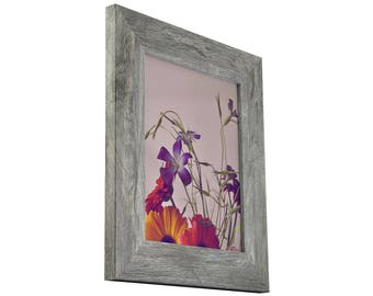 Distressed Dark Gray Wood Picture Frame 12x12 Gray