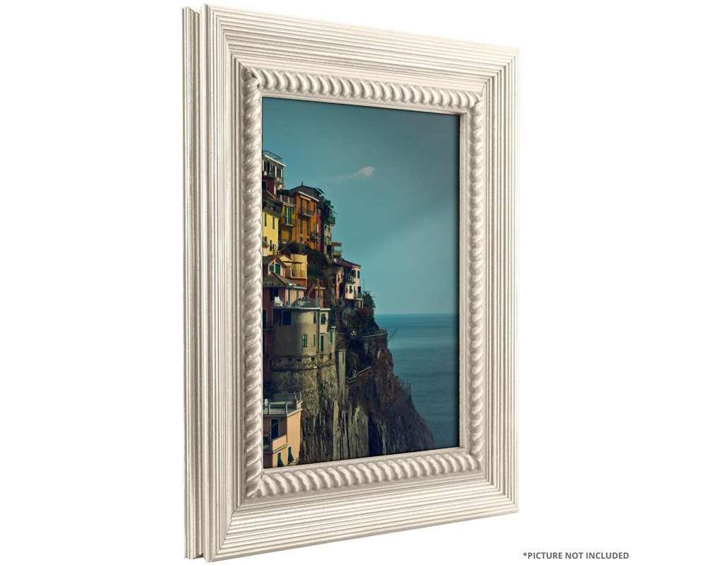 Craig Frames 20x24 Inch Rustic Off-White Picture Frame