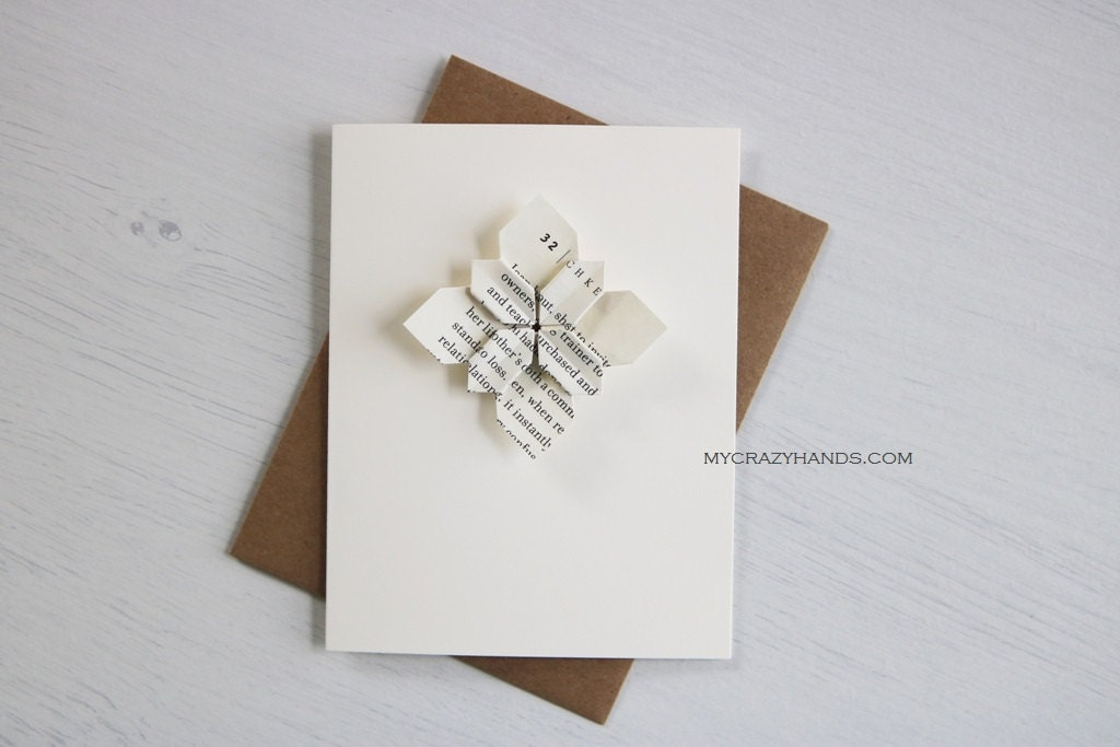 Origami cards anniversary card wedding