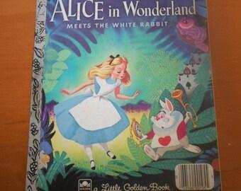 "Little Golden Book, ""Walt Disney's Alice in Wonderland"" Children's Book"