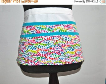 ON SALE Spring Teacher apron, Paint splash apron, Teacher apron, Watercolor utility apron, Women's vendor apron, Paint spot apron, art teach