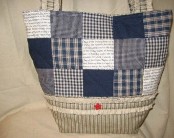 Patchwork Ruffles Tote Bag Purse Pattern Digital Download by Sew Practical, Mom and Pop Craft