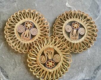 Set of 3 Southwestern Trivets, Vintage