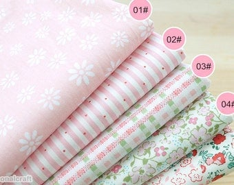 Cotton Fabric, Twill Cotton Fabric, Pink theme flower, 1.6m width Printing and dyeing,Quilting fabirc, Decor Fabric 1/2 Yard (QT1195-B)