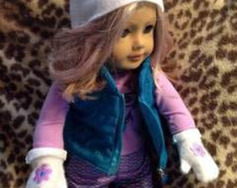 ITH 18 inch Doll Hat and Mittens HL1098 embroidery file