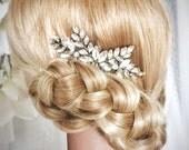 Wedding hair comb, Bridal Headpiece, Crystal hair comb, rhinestone hair comb, wedding hair accessories, Nanna rhinestone crystal comb