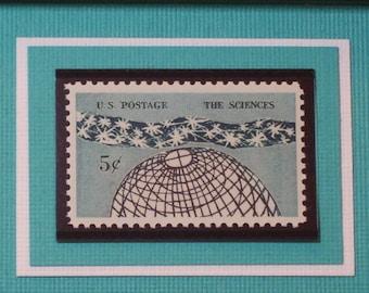 Tribute to the Sciences - Vintage Framed Stamp - No. 1237