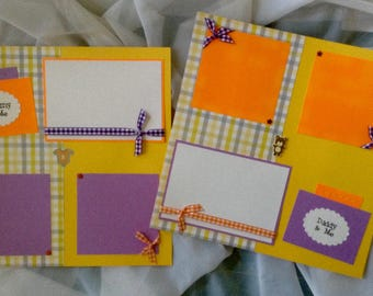 Premade Scrapbook Pages - Mommy and Me - Daddy and Me