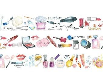 Makeup Washi Tape, Cosmetics Washi Tape