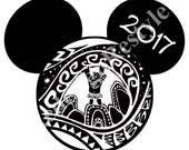 Disney Mickey Mouse Moana & Maui Inspired 2017 Iron-On Digital File
