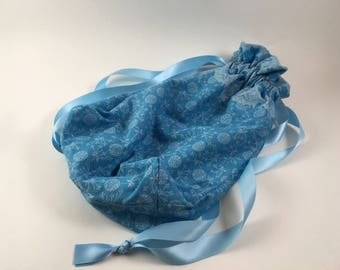 Blue Floral Project/Gift Bag