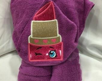 Lipstick Hooded Towel