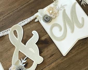 Mr and Mrs Banner, Sweetheart Table Banner, Wedding Banner, Wedding Decor