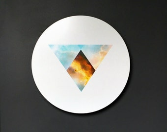 Three Hearthstones- A Geometric Representation of the Orion Nebula on Metal Circle
