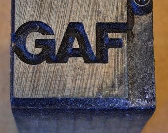 GAF Printing Block