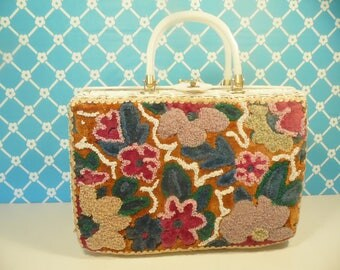 Mid Century Wicker Handbag - Beaded - Tropic Miami Florida