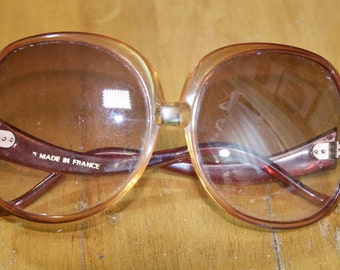 Vintage French Golden Brown Sunglasses