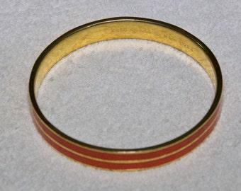 Kate Spade Orange Arrow Enamel Bracelet