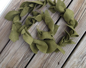 3 ft. Olive Green Felt Leaf Garland/ Felt Garland