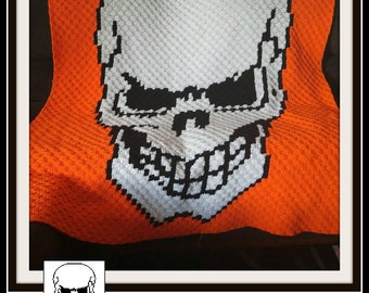 C2C Graph, Skull Afghan C2C Graph and Written Word Chart