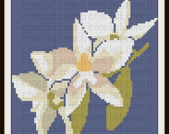 Lily Floral Afghan, C2C Graph, Written Word Chart