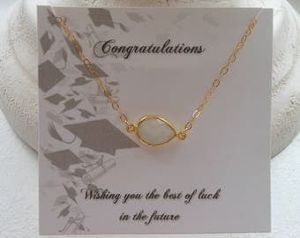 Graduation Gift,Gold Choker, Class of 2017, Short Necklace, Moonstone Necklace, Layering Necklace,Healing Stone,Gold Fill,Minimalist Jewelry