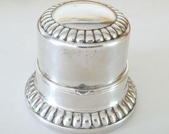Vintage Birks Sterling Silver Ring Box Wedding Ring Box Holder Gadroon Trim from TreasuresOfGrace