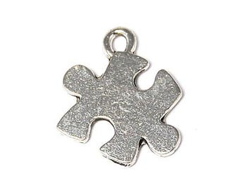 10 - Puzzle piece charms