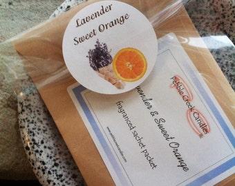 Cute Gift for Sister Lavender Orange Sachet Scent Women Travel Gift Long Distance Gift Simple Wedding Favor Country Paper Sachets