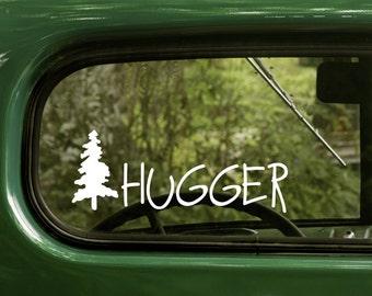 Treehugger Decal, Tree Hugger Sticker, Treehugger Decal, Nature Lover Decal, Vinyl Sticker, Car Decal, Laptop Sticker, Vinyl Decal