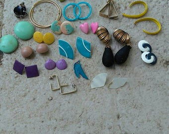 Destash of Vintage Earrings for Upcycling