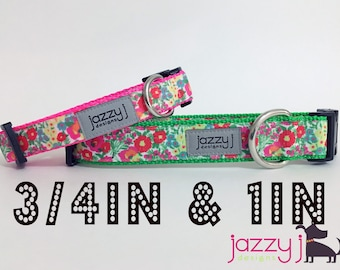 Summer Flowers Dog Collar