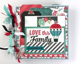 Family Scrapbook Mini Album Kit or Premade Album 8x8""
