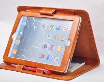 ipad air case ipad air 2 folio case genuine leather ipad 4 caes ipad mini case briefcase and iPad mini case & Nook HD 7'' case in  brown