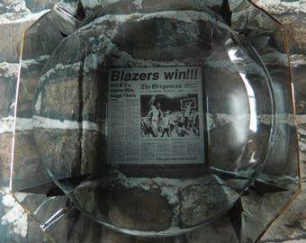1997 Portland Trail Blazers Championship Ashtray, Large NBA Ashtray, Blazers Champions 1977